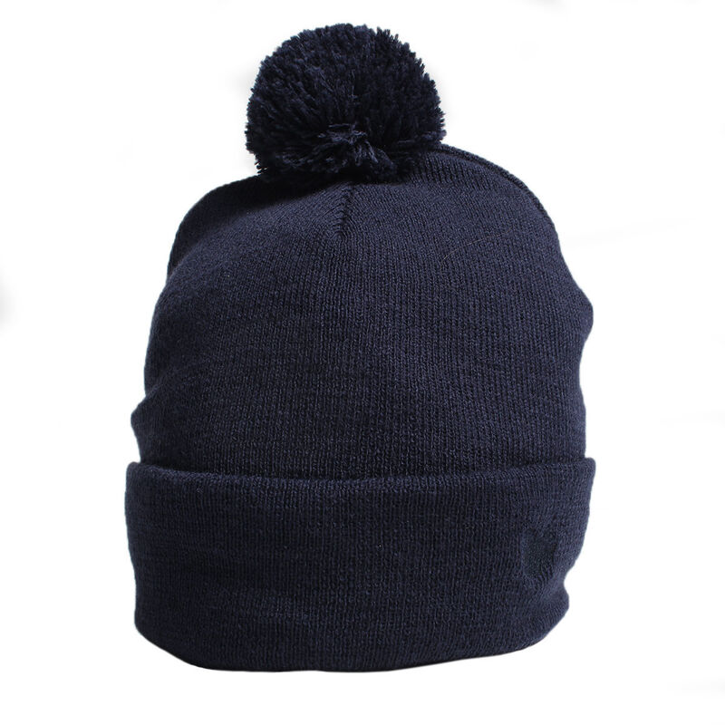 Palm Grove Mens Knitted Beanie Male Navy One Size