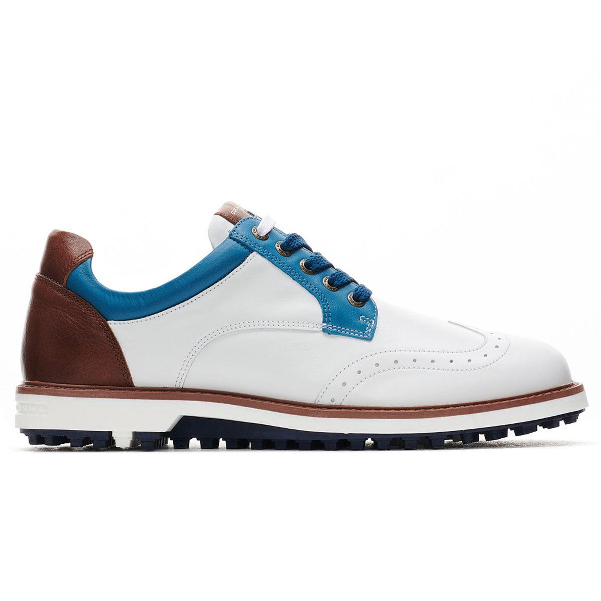 Duca Del Cosma Eldorado Golf Shoes, Mens, White/blue/cognac, 10   American Golf