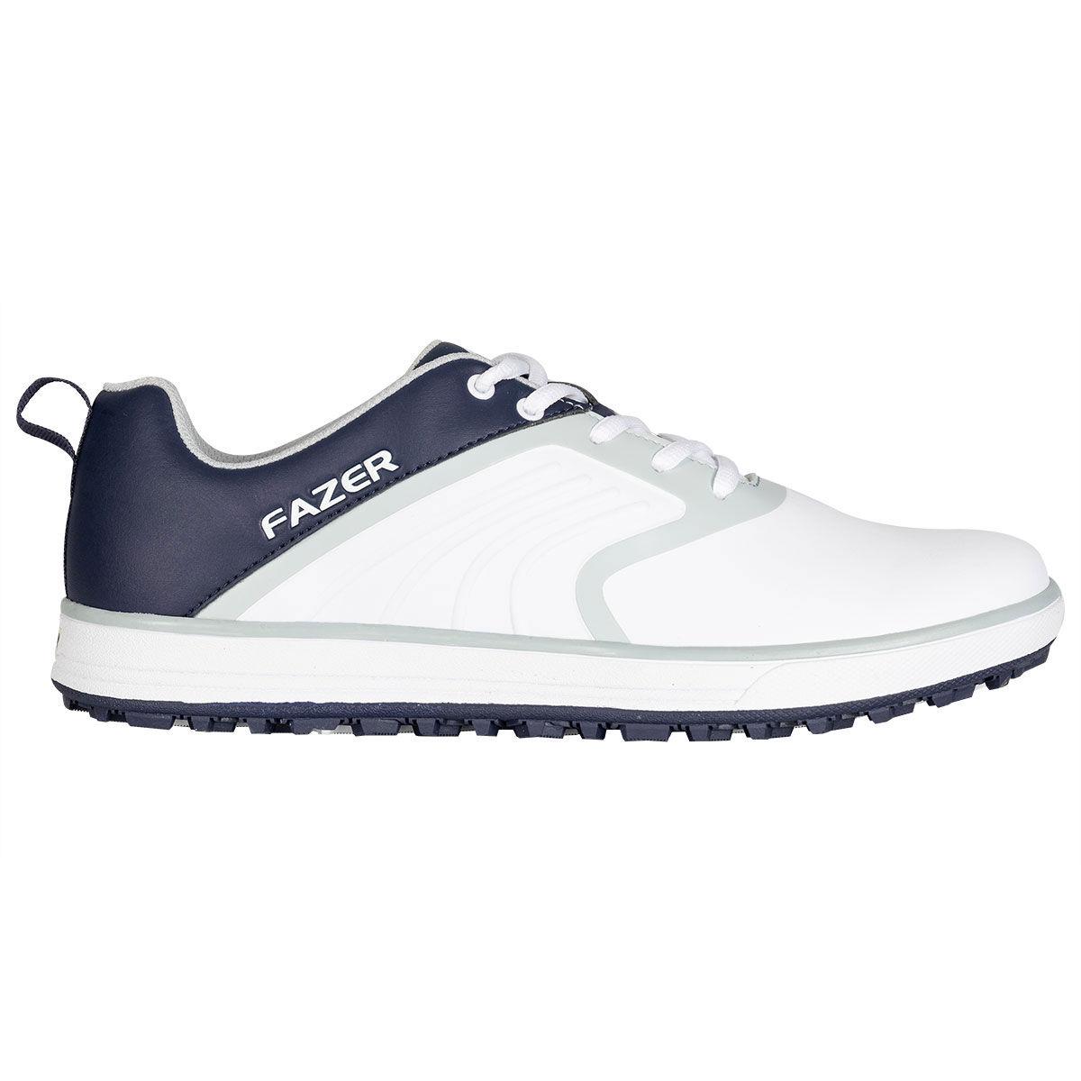 Fazer FZ-02 Europa Spikeless Golf Shoes, Male, White/Navy, 10, Regular