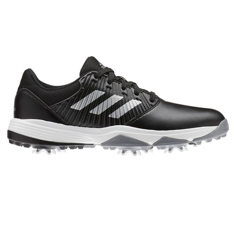 adidas Golf CP Traxion Junior Shoes Unisex BlackSilverWhite 5 Regular