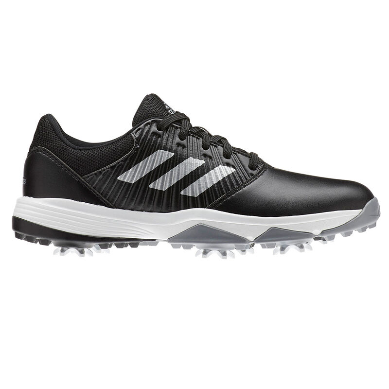adidas Golf CP Traxion Junior Shoes Unisex BlackSilverWhite 3 Regular
