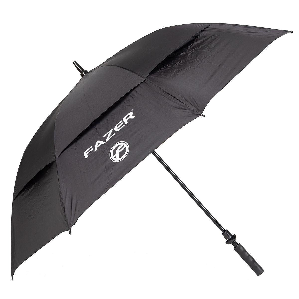 Fazer Black Logo Print Dual Canopy Golf Umbrella