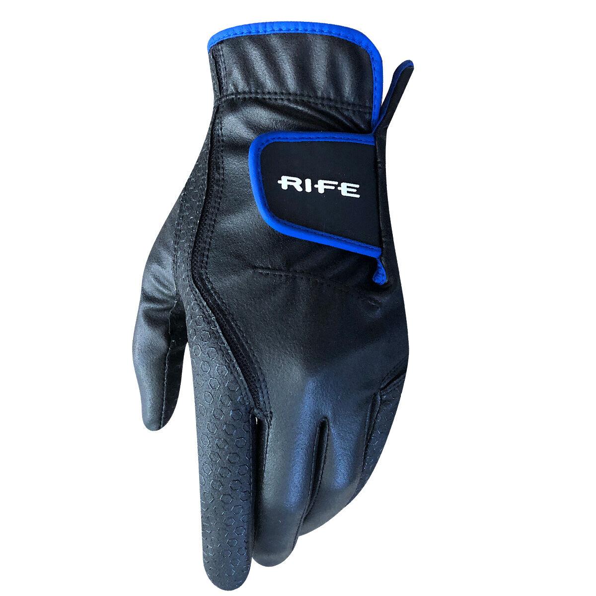 Rife Rain Golf Gloves - Pair, Male, Medium, Black