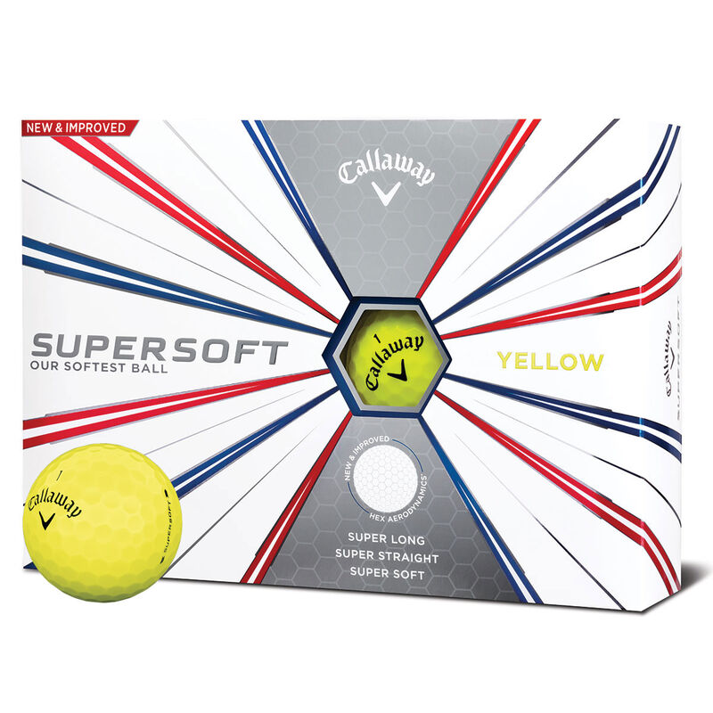 Callaway Golf Supersoft 12 Ball Pack 2019 Male Yellow