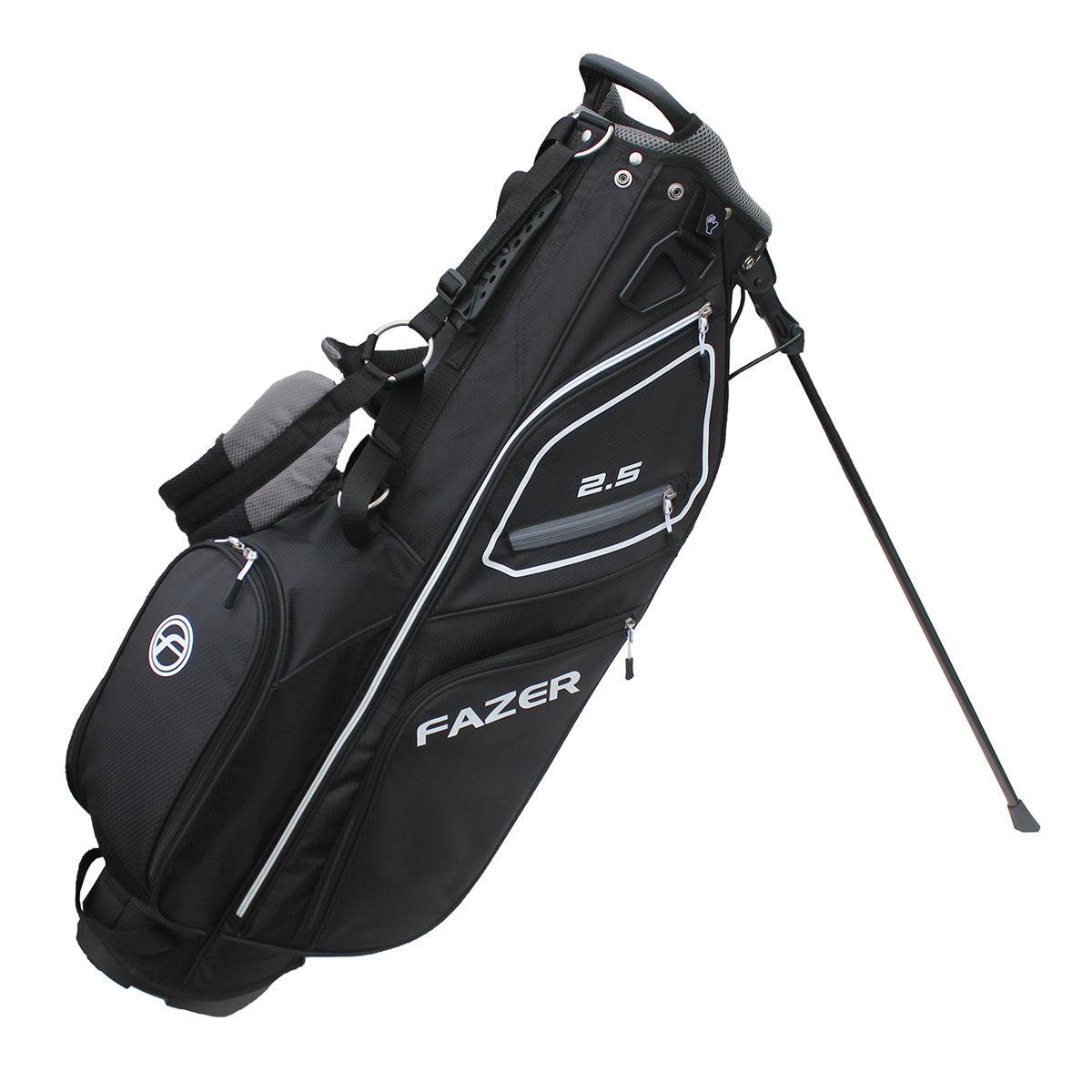 Fazer 2.5 Golf Stand Bag, Black/silver, One Size | American Golf
