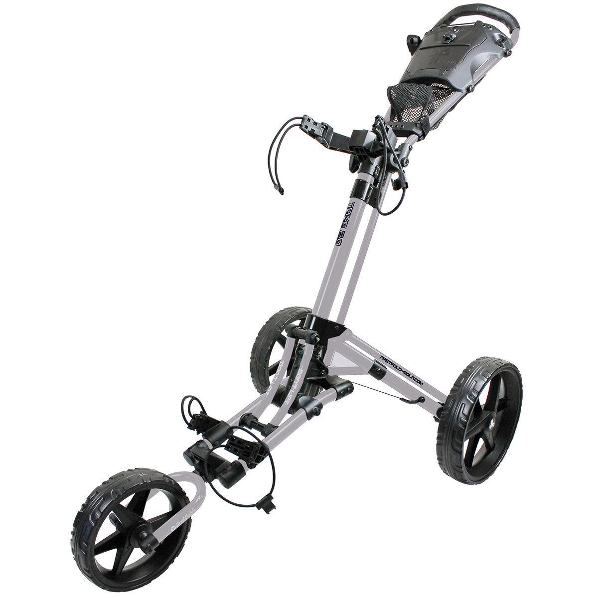Fast Fold Mens Silver And Black Lightweight FastFold Trike 2.0 Golf Trolley, One Size | American Golf