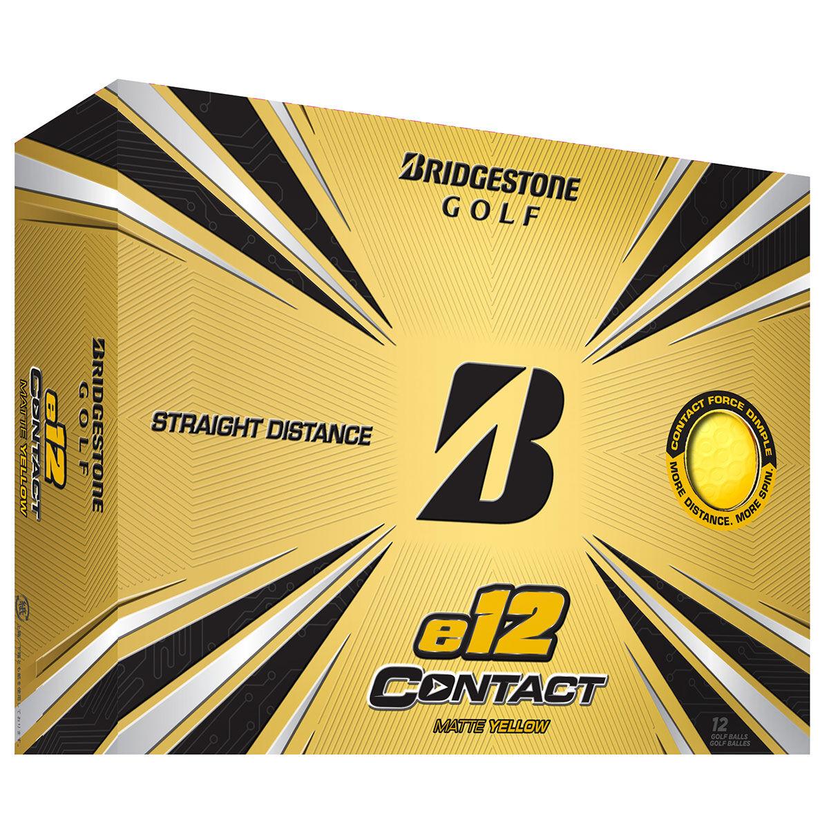 Bridgestone Golf e12 CONTACT 12 Ball Pack, Male, Yellow | American Golf