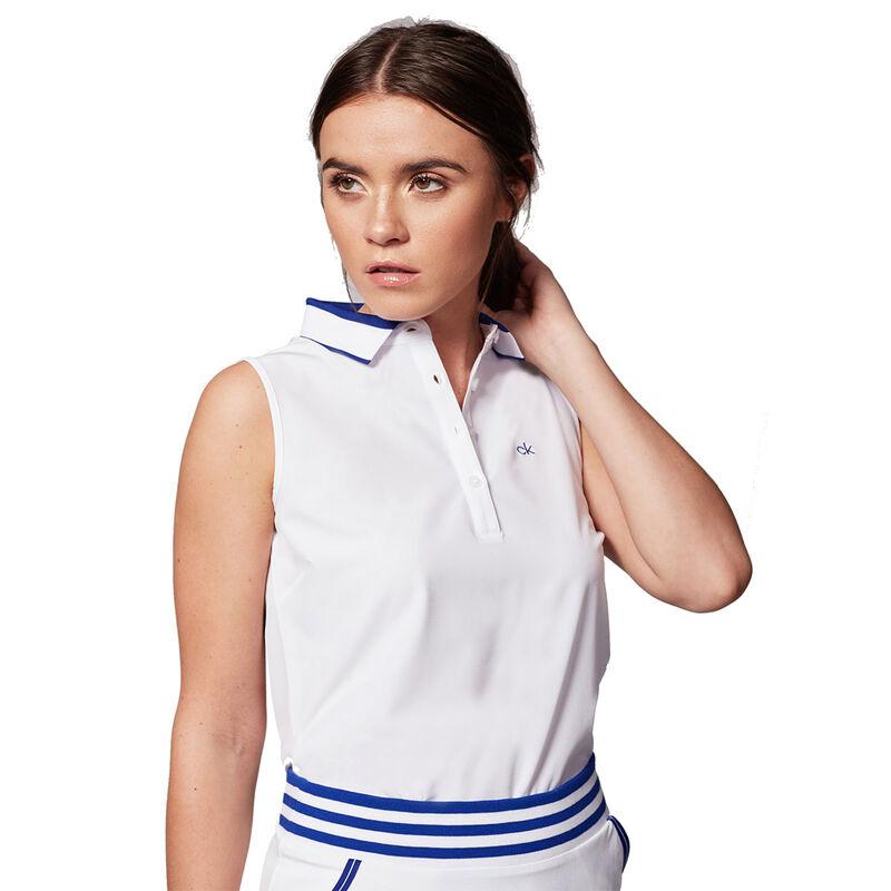 Calvin Klein Prairie Ladies Polo Shirt Female WhiteCobalt 14