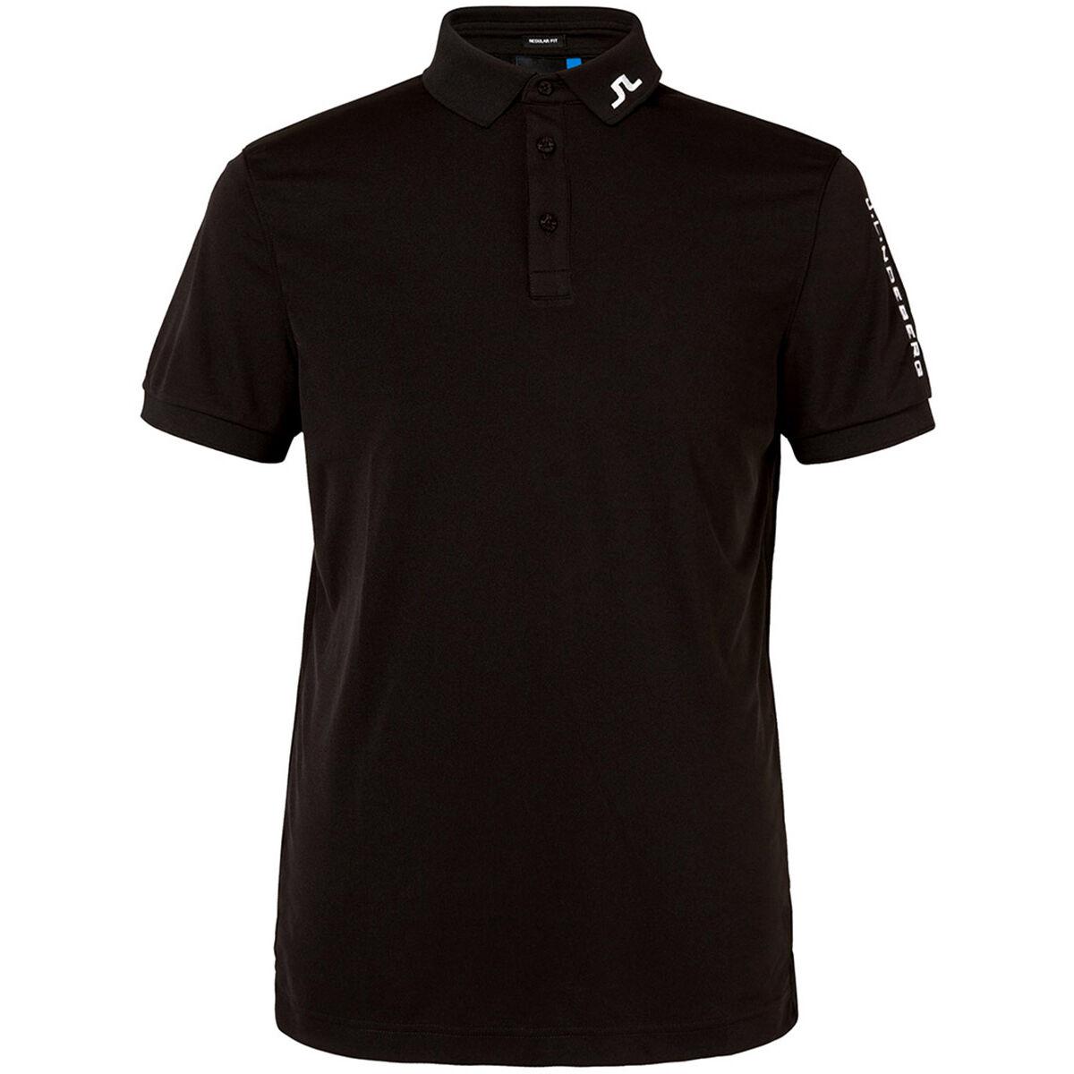 J.Lindeberg J. Lindeberg Mens Black Tour Tech TX Jersey Golf Polo Shirt | American Golf | American Golf