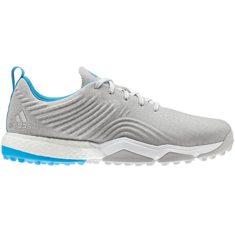 adidas Golf Adipower 4Orged S Shoes Male Grey TwoWhiteShock Cyan 7 Wide