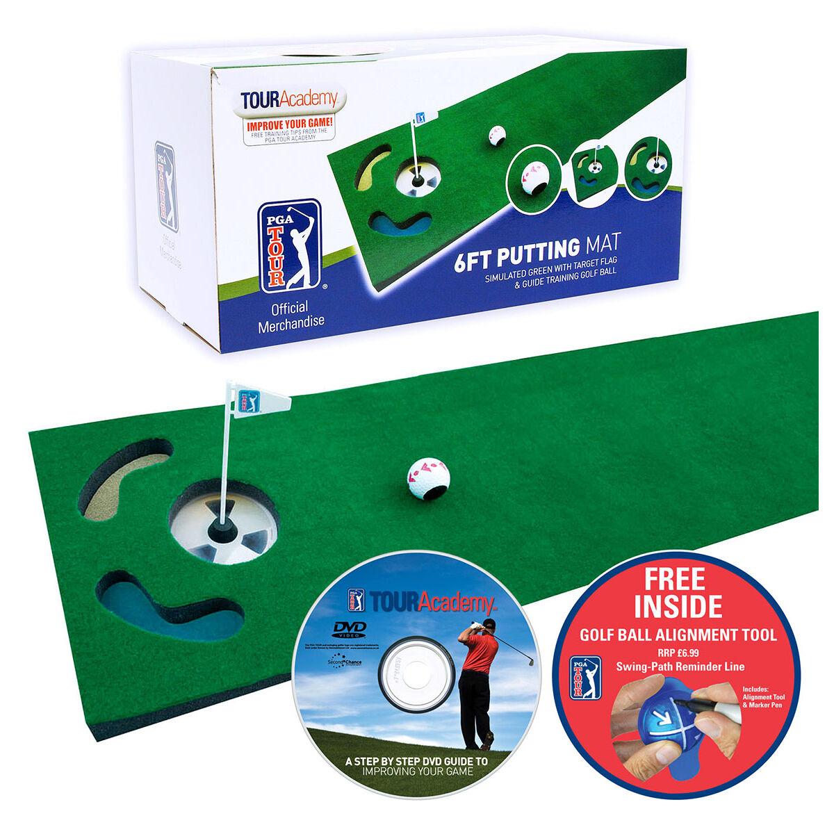 PGA Tour Golf Putting Mat, Male, Green, 30.5x183 cm | American Golf