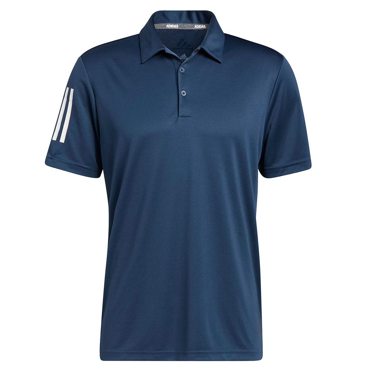 adidas Golf 3-Stripe Basic Golf Polo Shirt, Mens, Crew navy, Large | American Golf