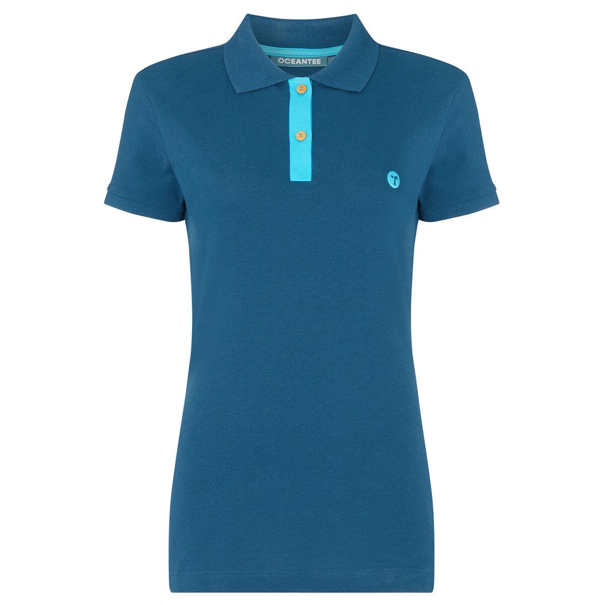 Ocean Tee Mako Womens Golf Polo Shirt, Female, Navy, Large | American Golf