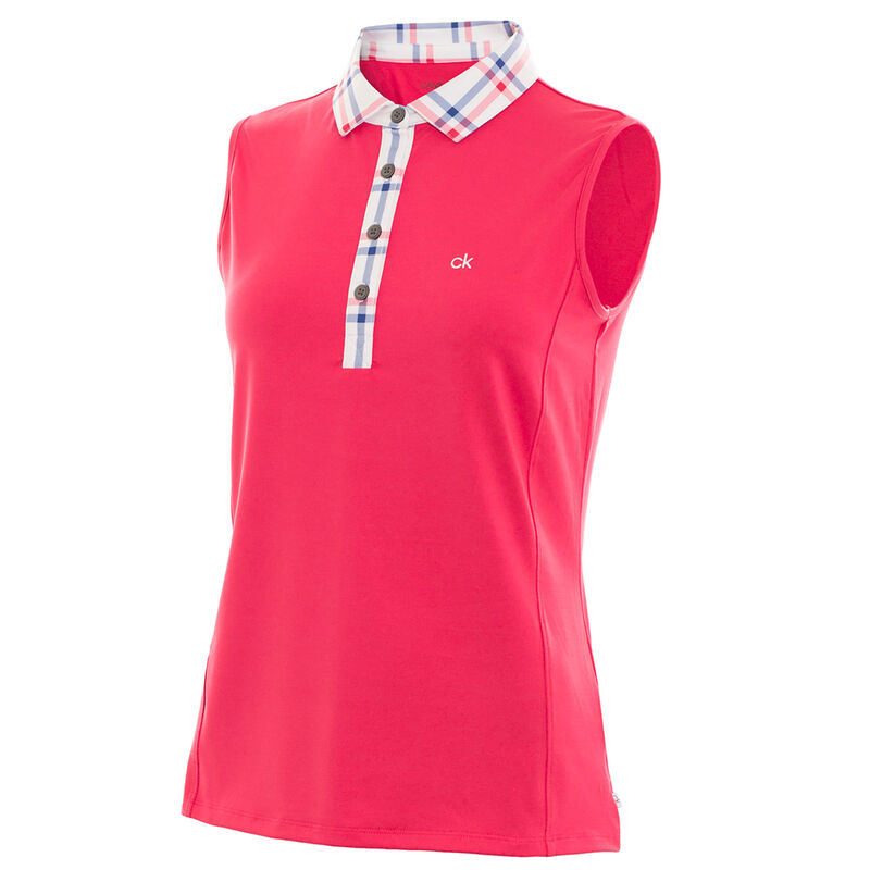 Calvin Klein Heritage Ladies Polo Shirt Female Punch 16