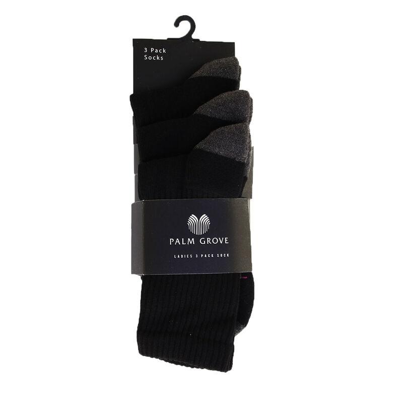 Palm Grove Technical Ladies Socks Female Black One Size