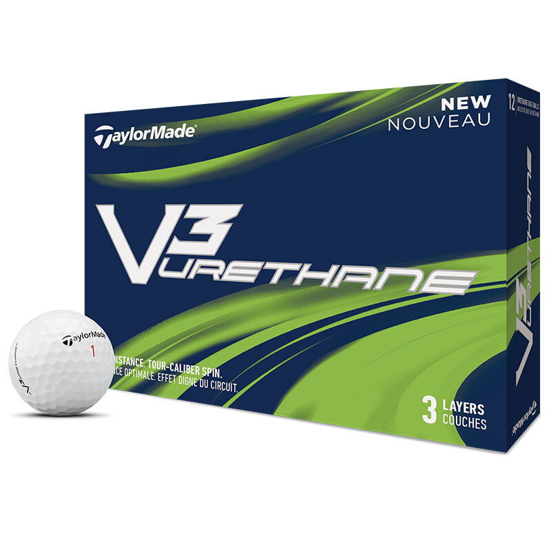 TaylorMade V3 Urethane 12 Ball Pack Male White