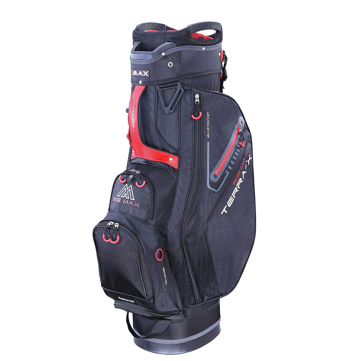 BIG MAX Terra X Golf Cart Bag, Black red, One Size | American Golf