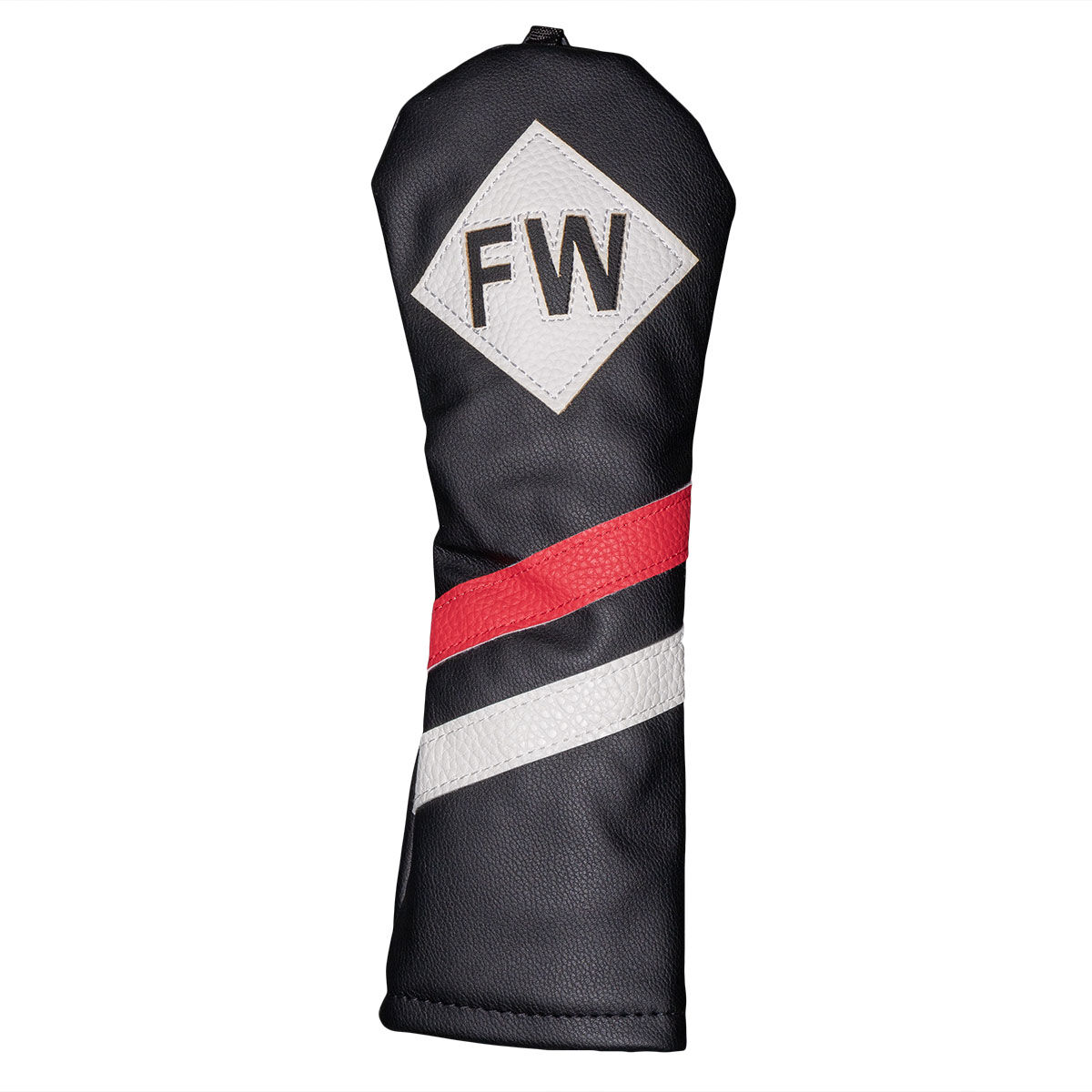 Fazer Black, White and Red Adjustable Vintage Golf Fairway Head Cover, One size | American Golf