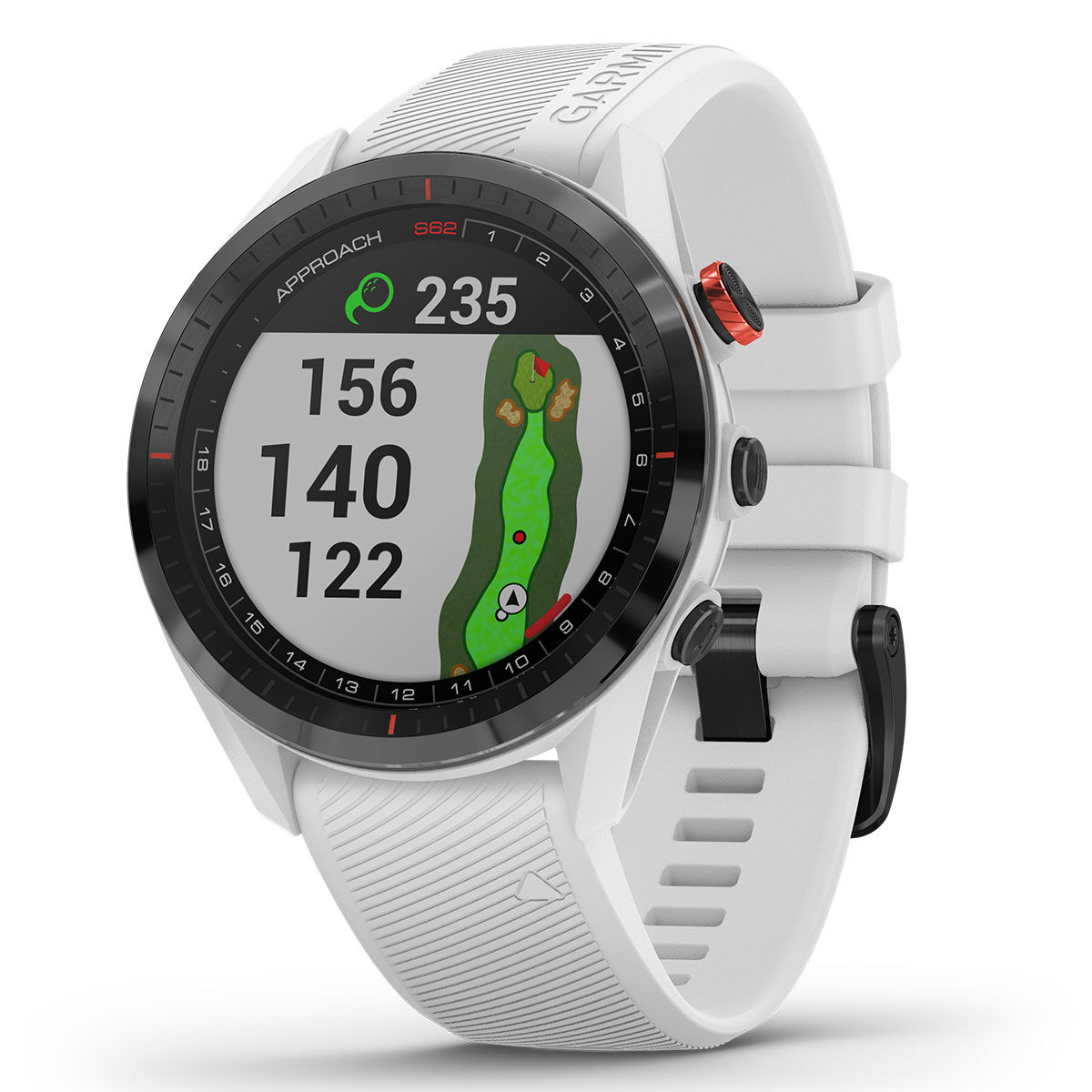 Garmin Approach S62 Golf GPS Watch, Male, White