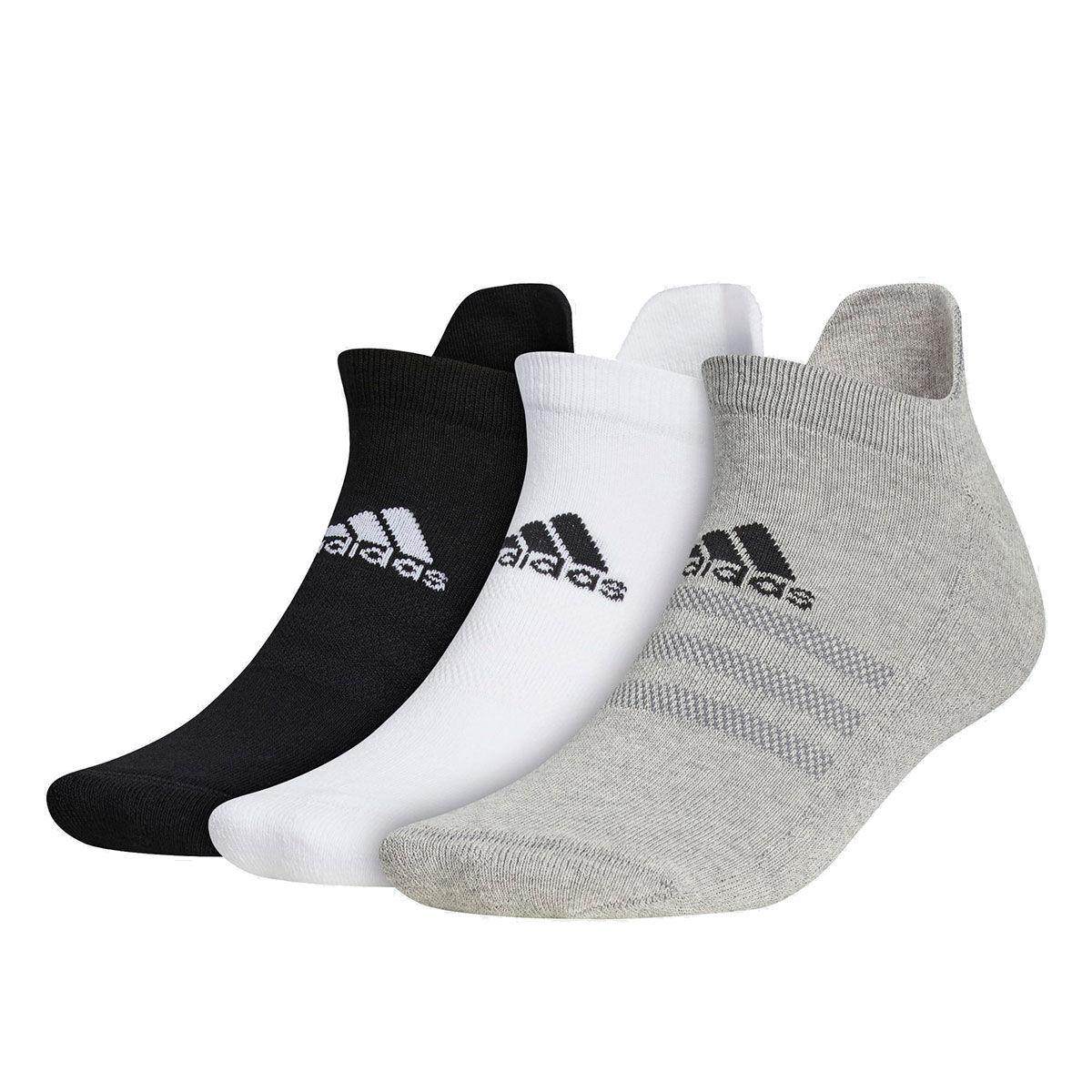 adidas Golf 3 Pack Ankle Socks, Mens, White/black/grey, 6.5-8 | American Golf