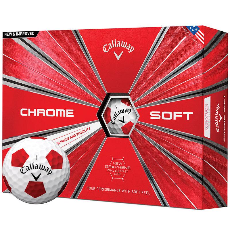 Callaway Golf Chrome Soft Truvis 12 Ball Pack Male WhiteRed