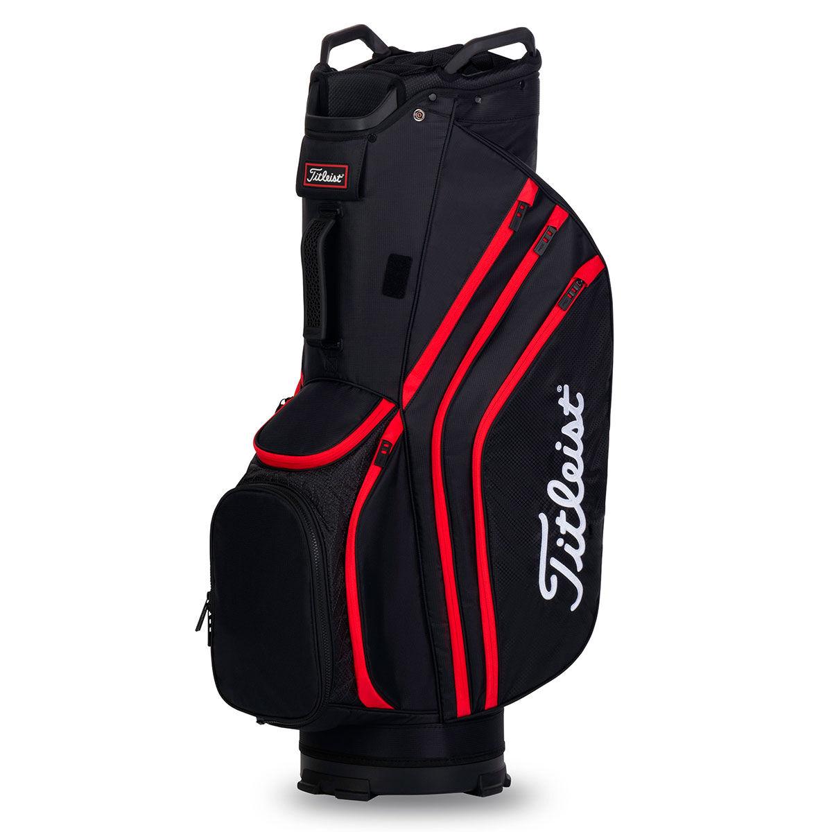 Titleist 14 Lightweight Golf Cart Bag, Black/black/red | American Golf