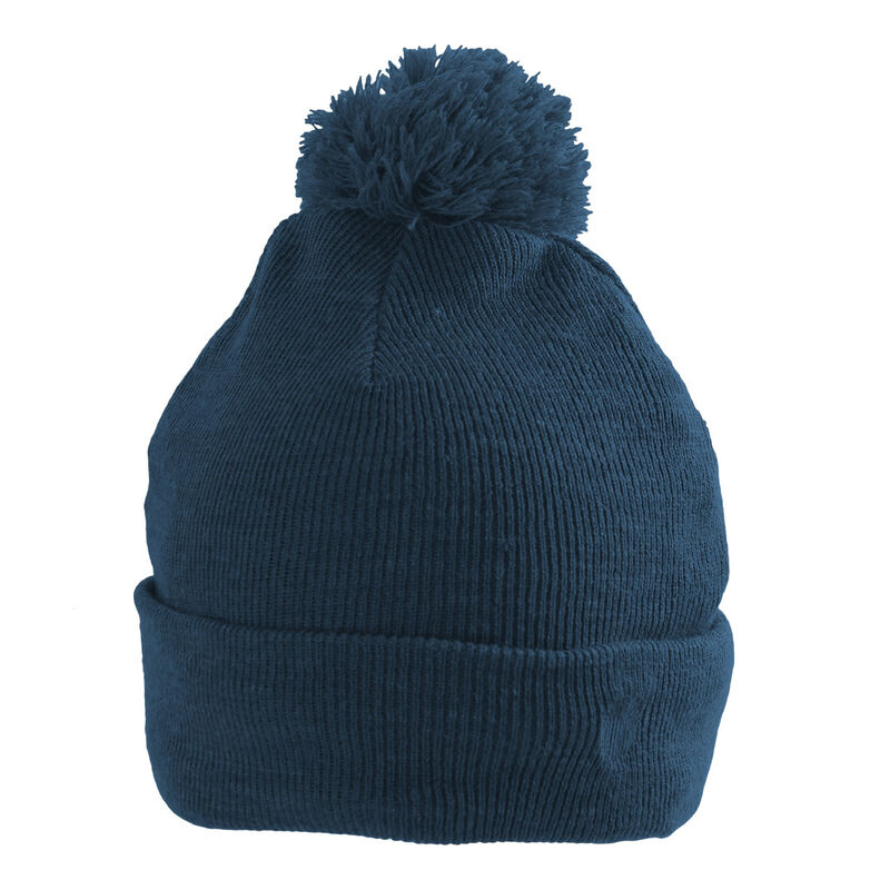Palm Grove Cable Knit Pom Ladies Beanie Female Navy One Size