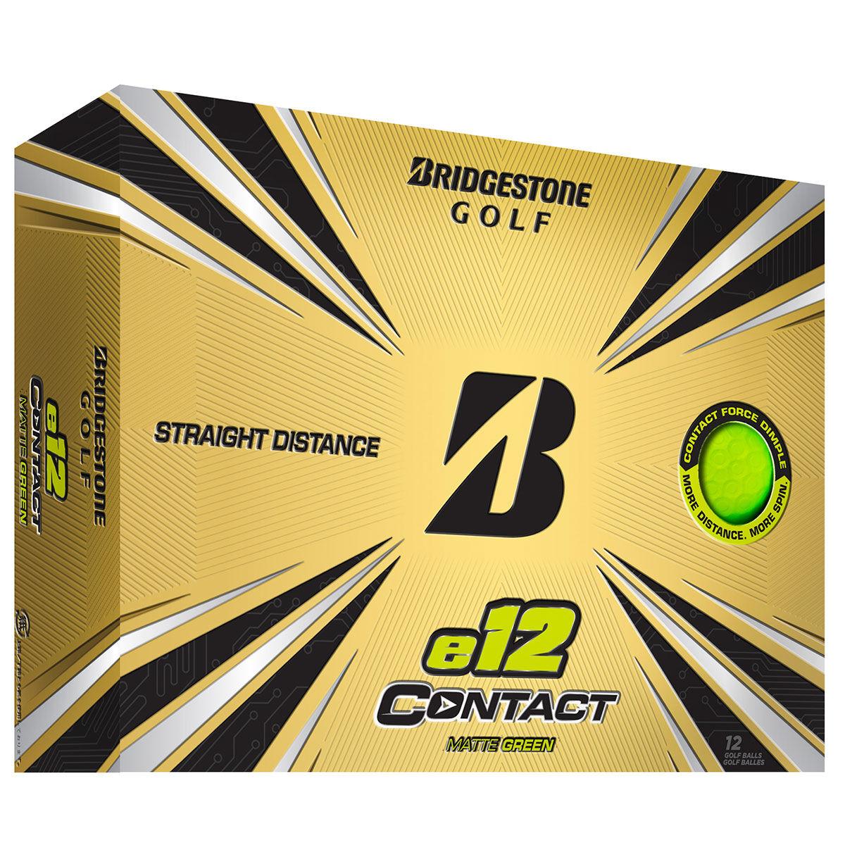 Bridgestone Golf e12 CONTACT 12 Ball Pack, Male, Green | American Golf