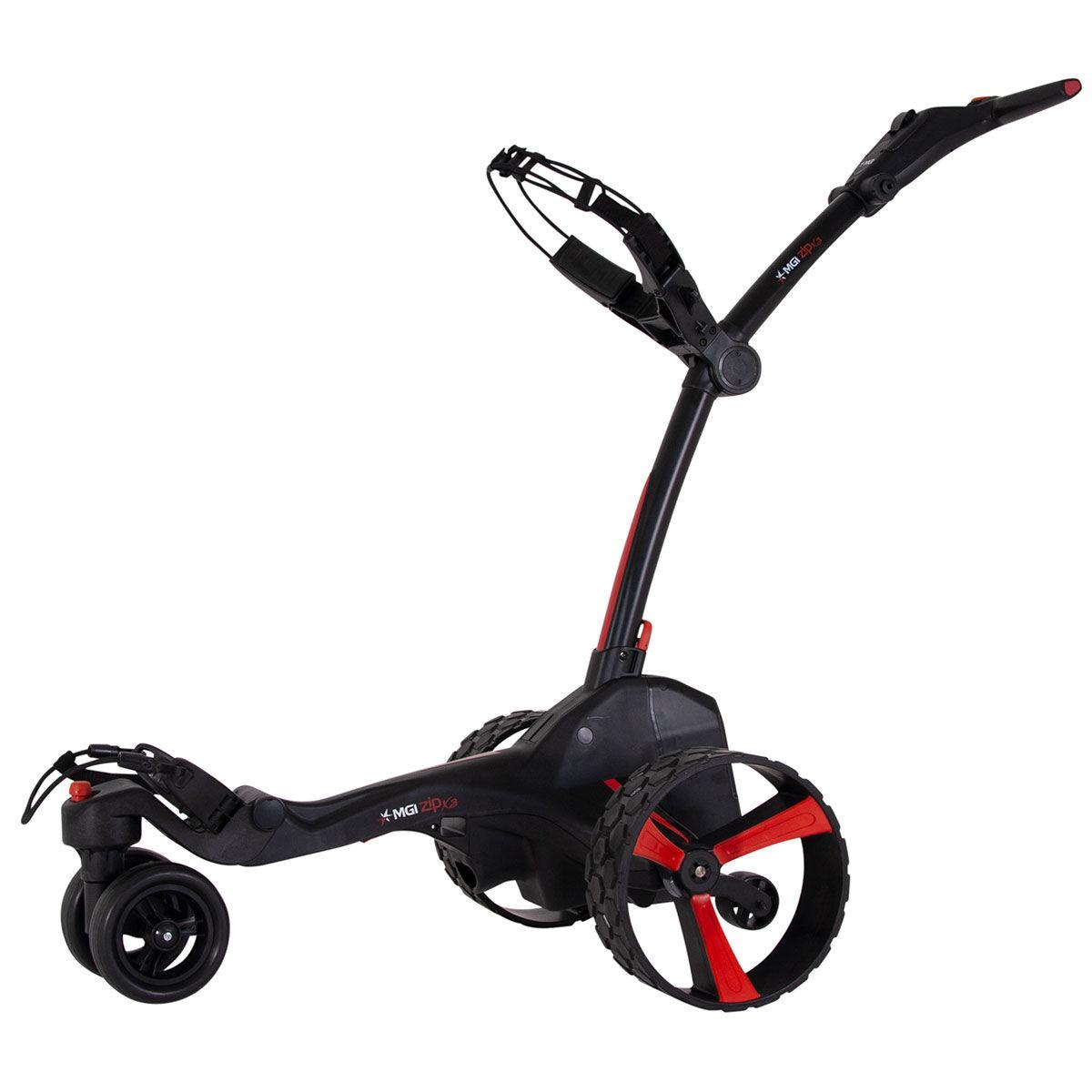 """MGI Golf Black Zip X3 Lithium Electric Golf Trolley, Size: 27.55x18.5x16.5""""   American Golf   American Golf"""
