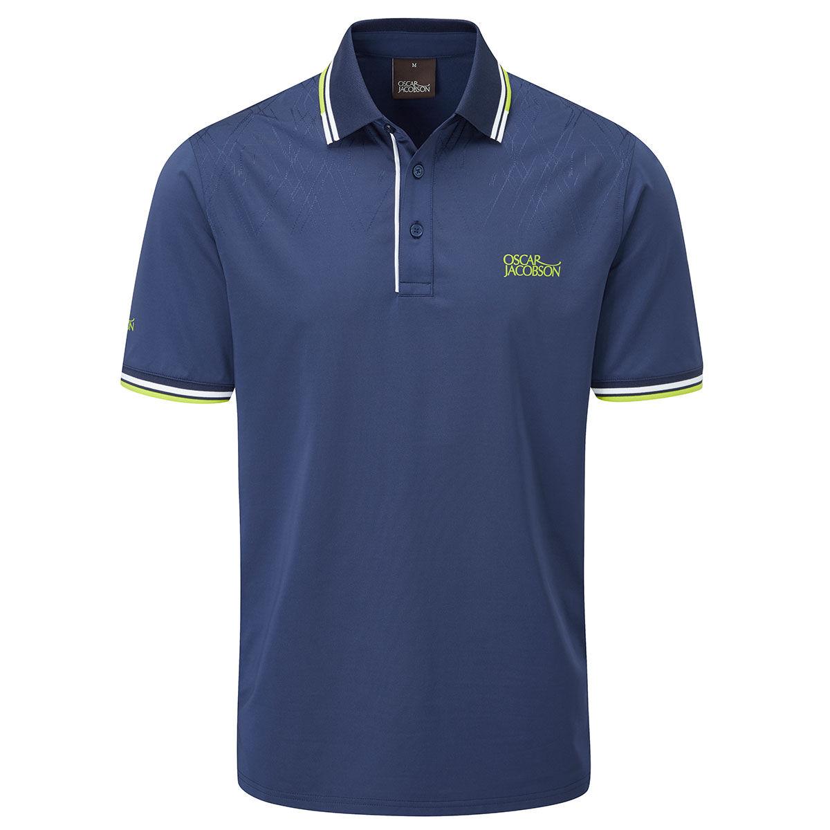 Oscar Jacobson Buxton Golf Polo Shirt, Mens, Navy, Large | American Golf