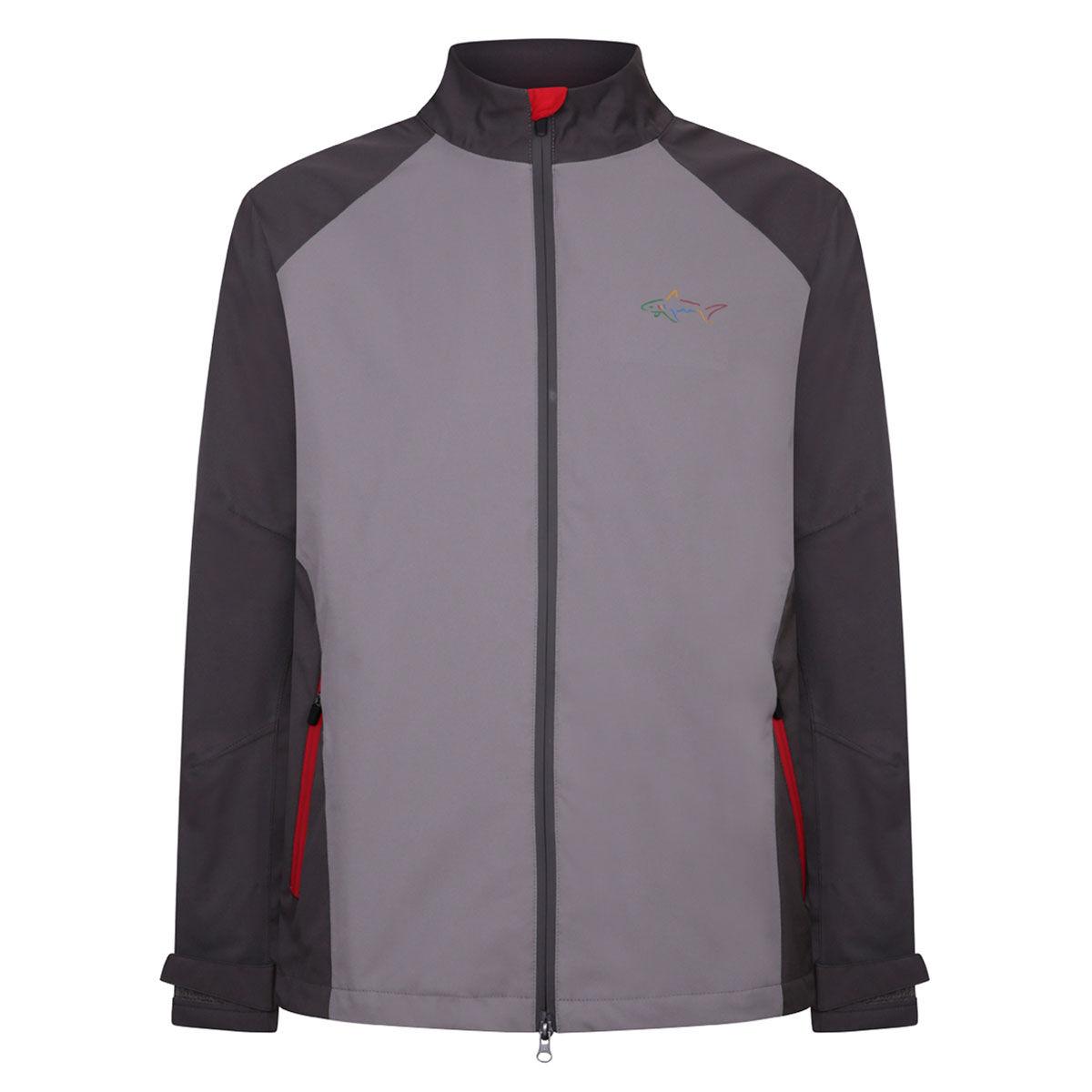 Greg Norman Dorsal Waterproof Golf Jacket, Mens, Charcoal/grey, Large   American Golf