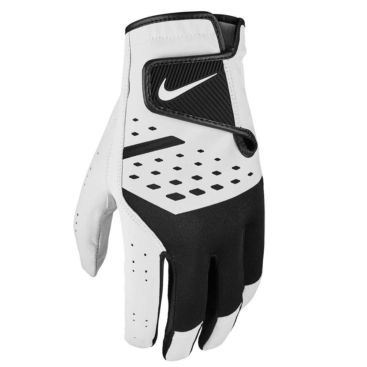 Nike Golf Mens White And Black Lightweight Tech Extreme VII Left Hand Golf Glove, Size: S   American Golf