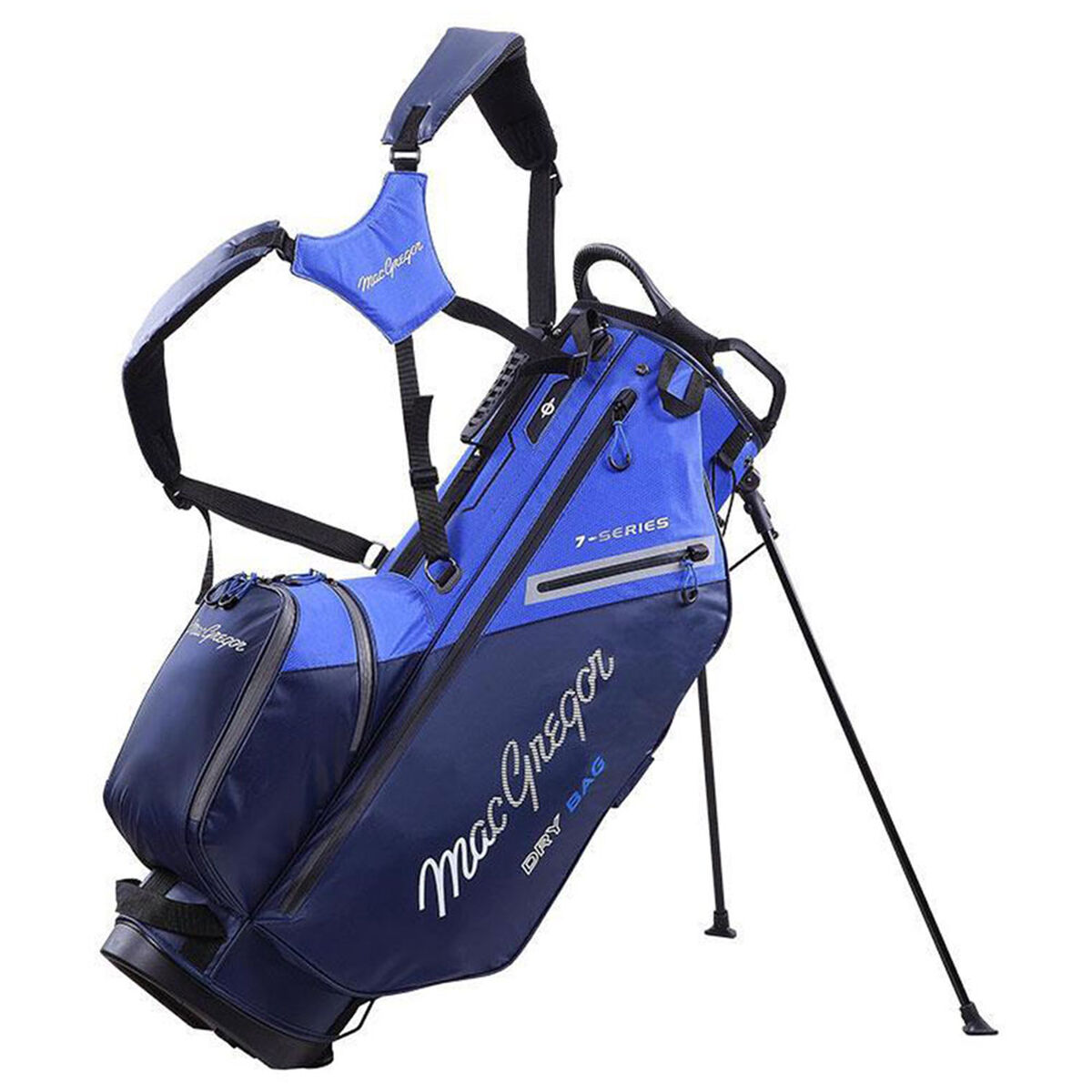MacGregor 7-Series Water-Resistant Golf Stand Bag, Navy/royal   American Golf