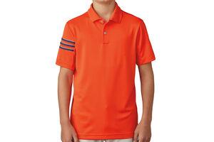 adidas Golf 3 Stripe Junior Polo Shirt