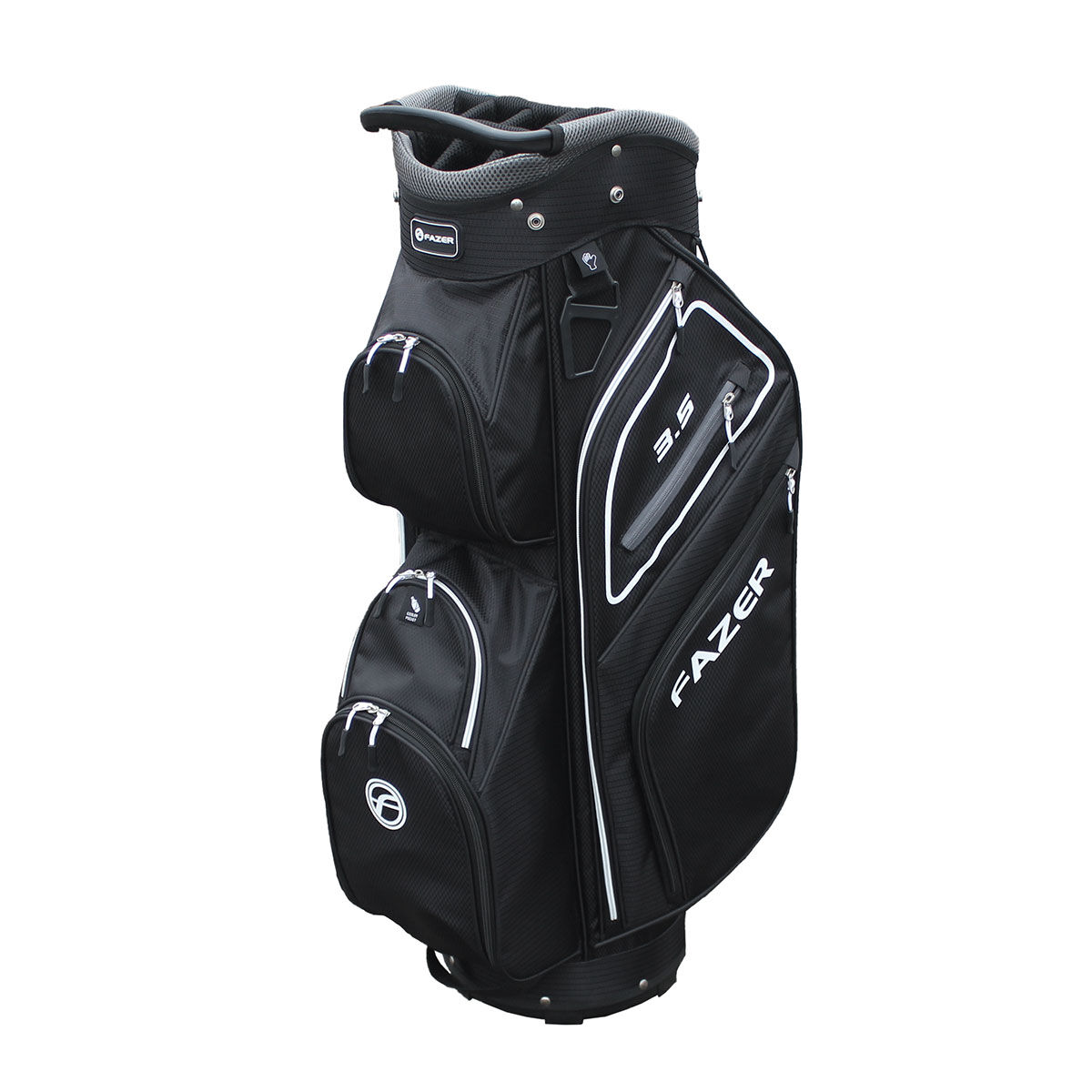 "Fazer 3.5 Golf Cart Bag, Black/silver, 9"" | American Golf"