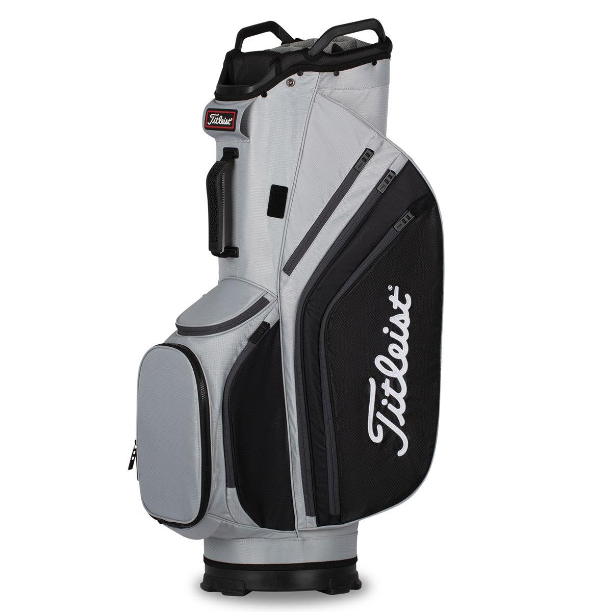Titleist 14 Lightweight Golf Cart Bag, Grey/black/charcoal, One Size | American Golf