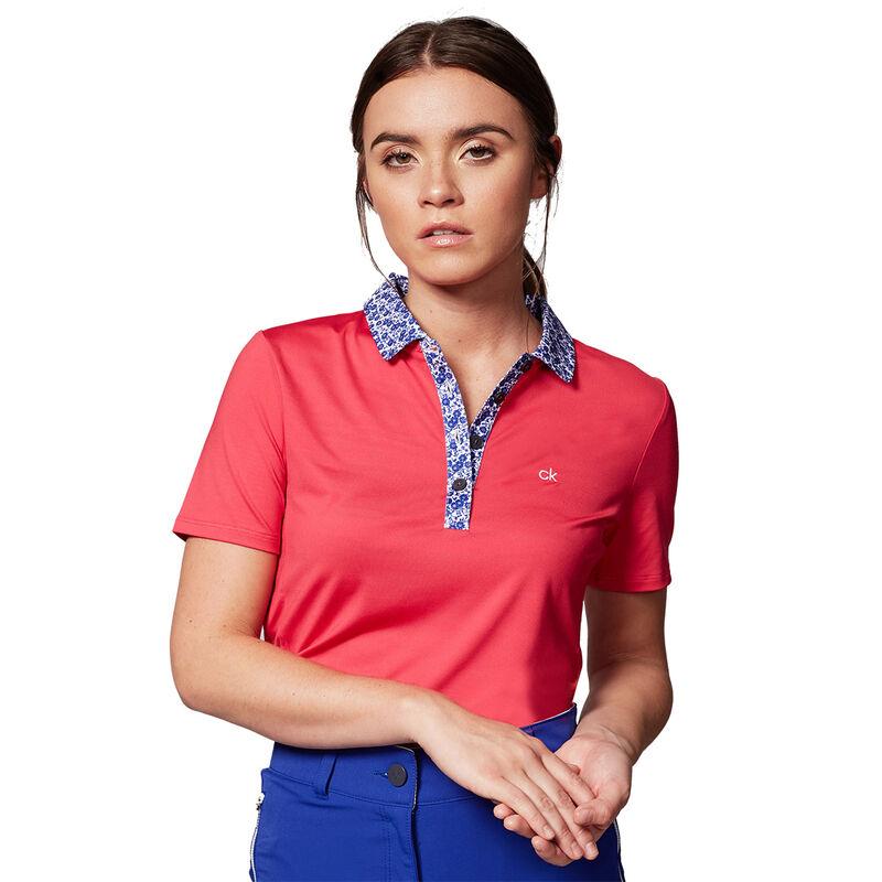 Calvin Klein Acadia Ladies Polo Shirt Female Punch 14