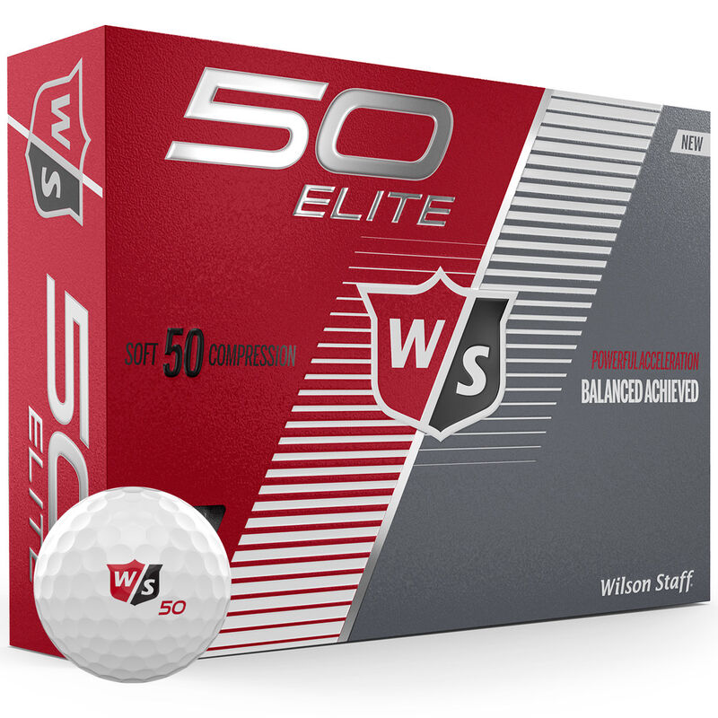 Wilson Staff Fifty Elite 12 Ball Pack Male White