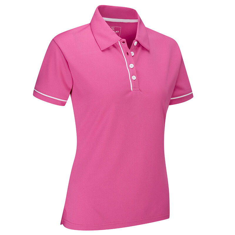 Stuburt Sport Tech Ladies Polo Shirt Female Blush Pink Small