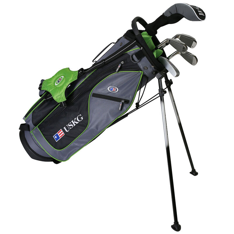 US Kids Green Starter Golf Set 9 11 Years