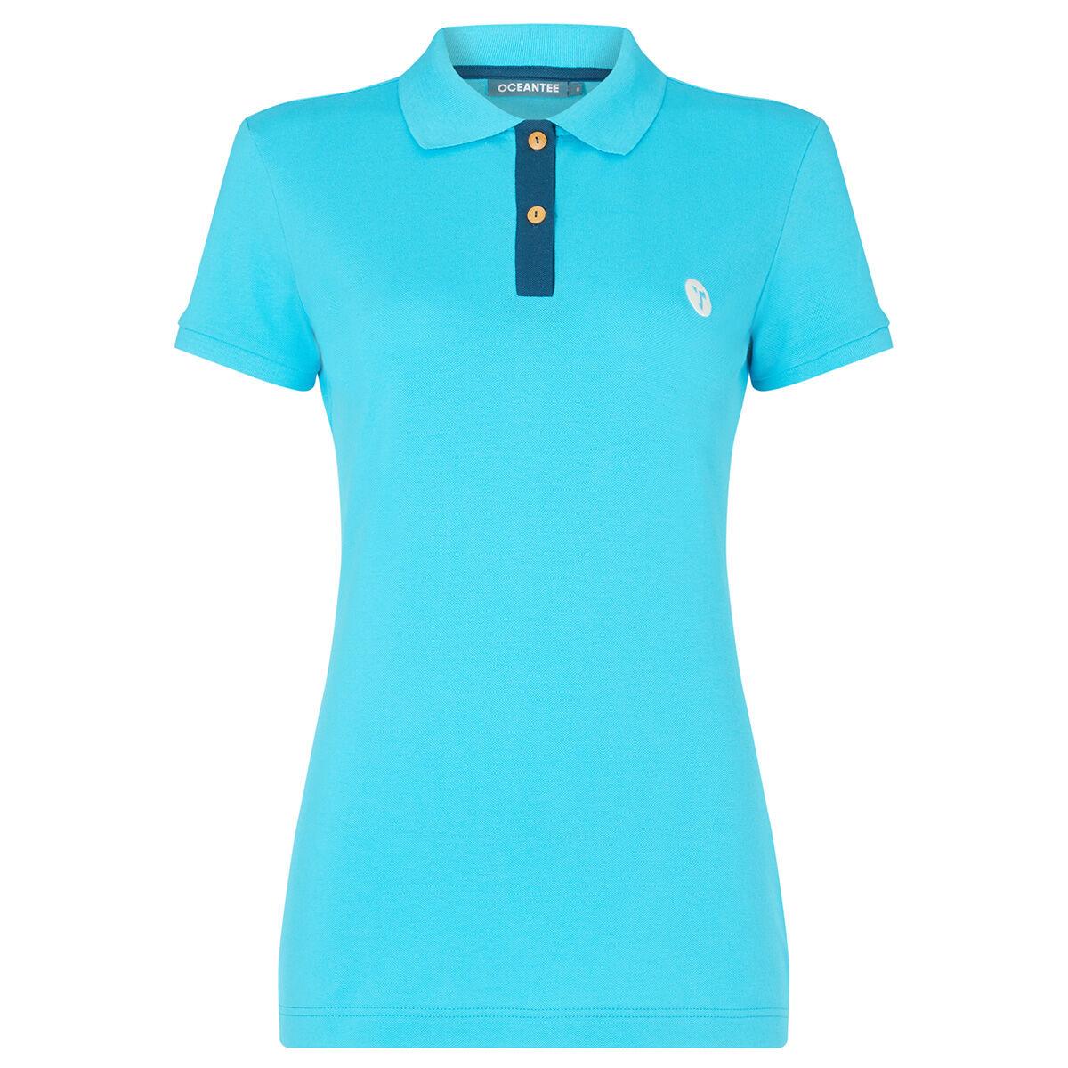 Ocean Tee Mako Womens Golf Polo Shirt, Female, Aqua, Large | American Golf