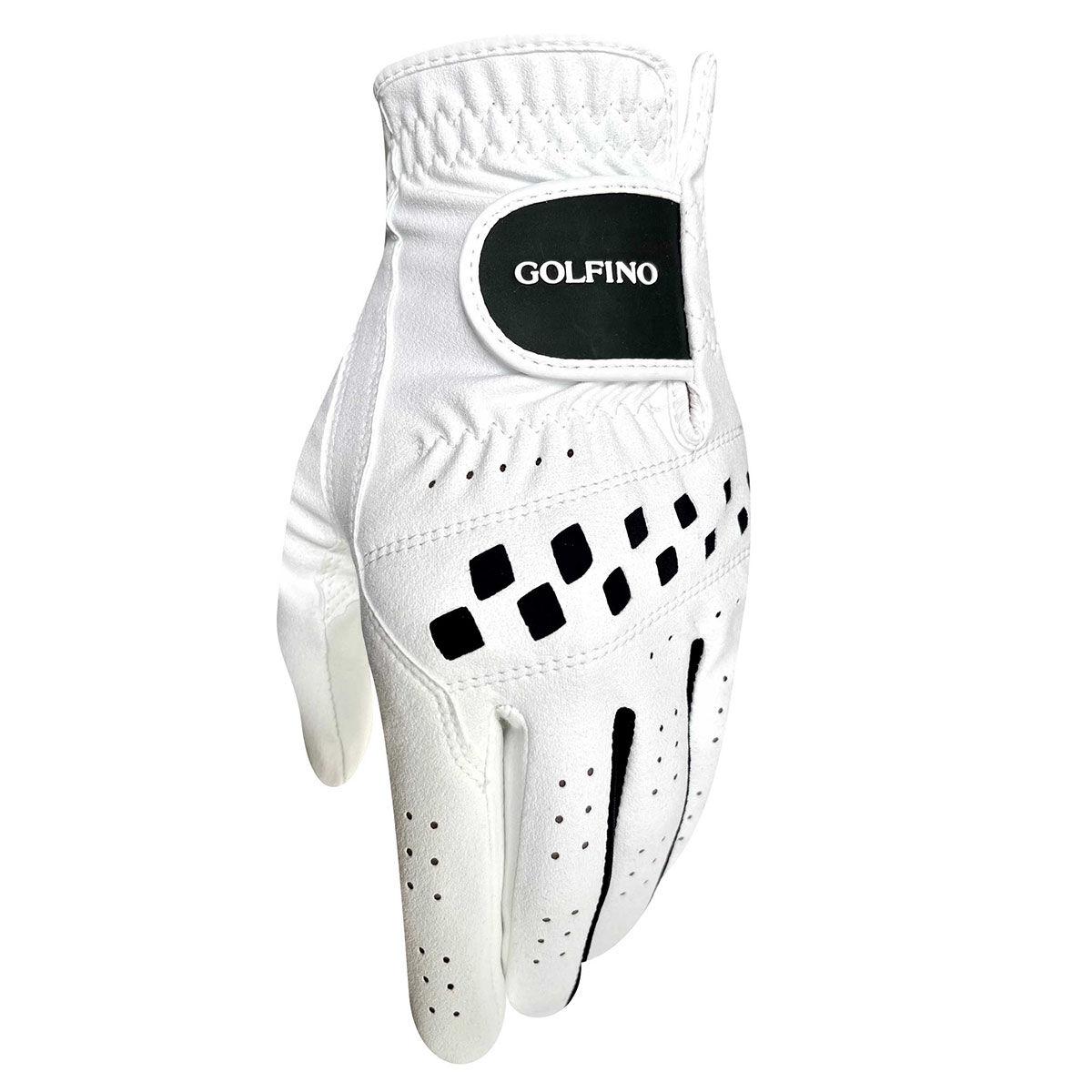GOLFINO All Weather Hybrid Golf Glove, Mens, Left hand, Large, White/black | American Golf
