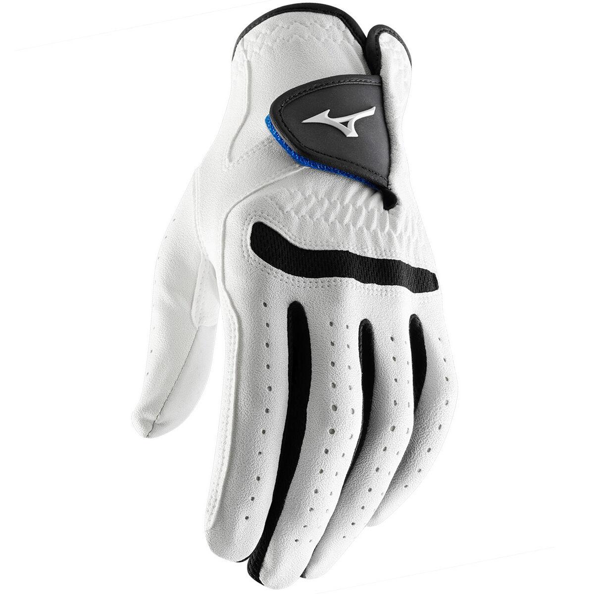 Mizuno Golf Mens White and Black Colour Block Mizuno Comp Left Hand Golf Glove, Size: Xl   American Golf