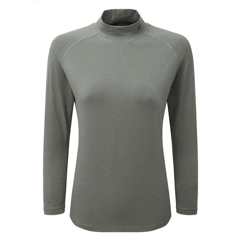 Palm Grove Mock Neck Ladies Base Layer Female Grey 18