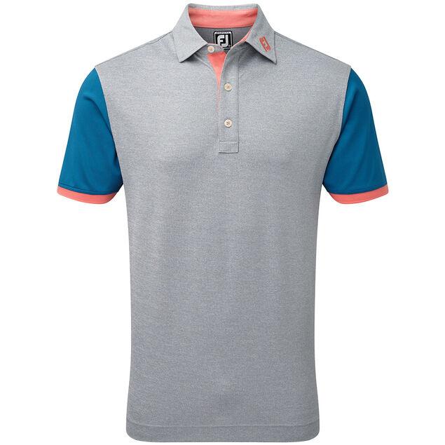 94444b0b FootJoy Pique Colour Block Trim Polo Shirt from american golf