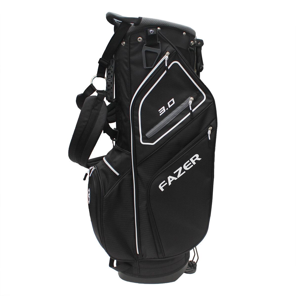 Fazer 3.0 Golf Stand Bag, Black/silver, One Size | American Golf