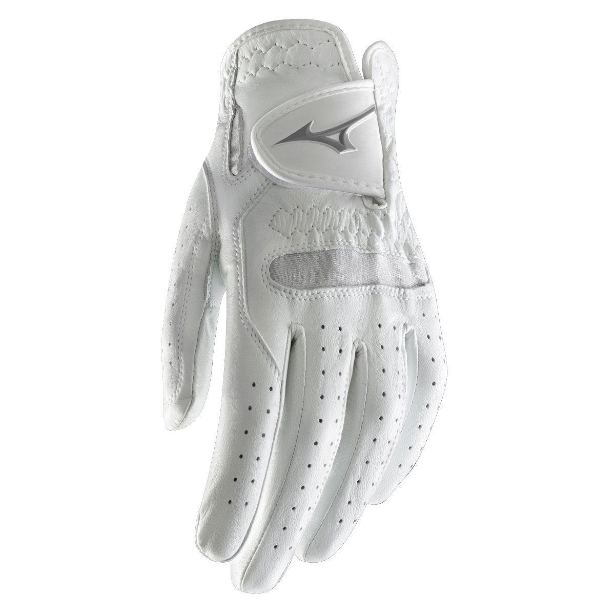 Mizuno Golf Womens White Pro Left Hand Golf Glove, Size: L   American Golf