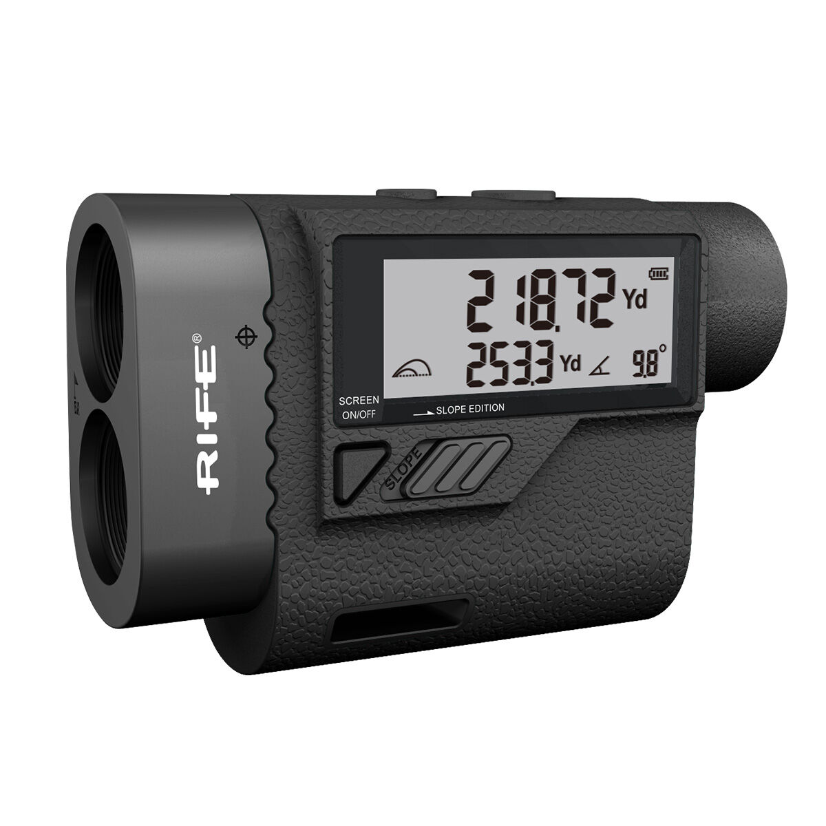 Rife Black RX5 Deluxe Golf Rangefinder with an LCD Display