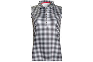 Calvin Klein Checkered Sleeveless Ladies Polo Shirt