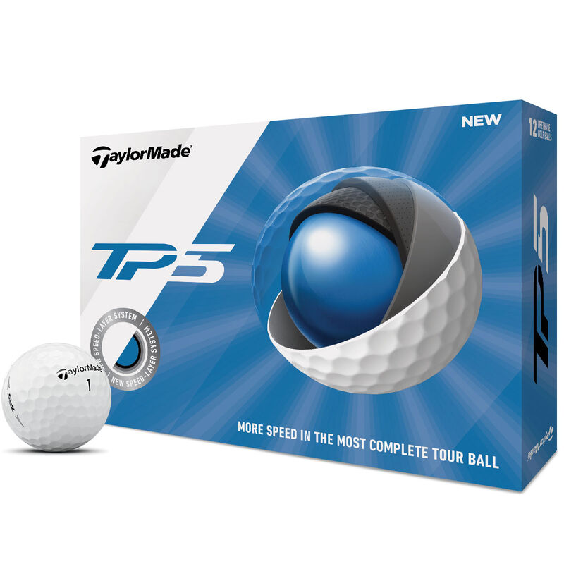 TaylorMade TP5 12 Ball Pack 2019 Male White